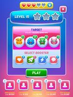 Game UI. Nivå skärm. vektor