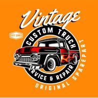 Vintage anpassad lastbil vektor