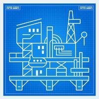 Entwurf für Ölplattformanlage
