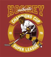 Hockey Spieler vektor