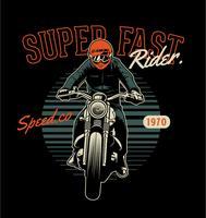 Superschneller Fahrer