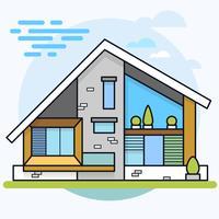 Vektorabbildung des modernen Hauses.