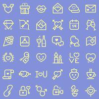 Alla hjärtans dag ikoner set