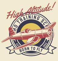 Flygplan med hög höjd