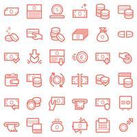 Symbole für Wirtschaft und Finanzen vektor