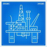 Oljeplattforms riggblåkopi