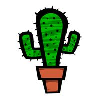 Kaktuspflanze-Karikaturvektorillustration vektor