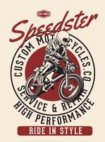 Speedster Fahrer vektor