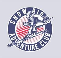snöförare vektor