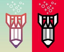 Konst kreativ utveckling ikon illustration. vektor