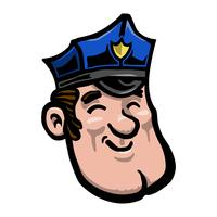 Comic Polizist Polizist