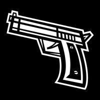 Waffe-Vektor-Symbol vektor