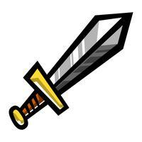 Metall-Schwert-Vektor-Cartoon-Symbol