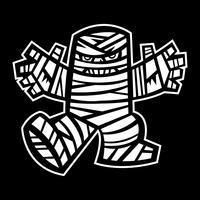 Spooky Mummy Charakter vektor
