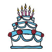Geburtstagskuchen vektor