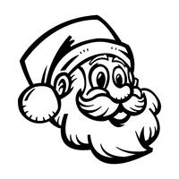 Weihnachtsmann Gesicht Vektor-Illustration vektor
