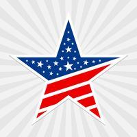 Amerika-Stern-Vektor-Symbol