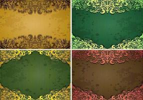 Smaragd Vintage Hintergrund Vektor Pack