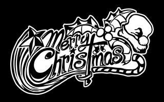 Text-Gussgraphik der frohen Weihnachten
