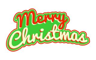 Merry Christmas text typsnitt grafik vektor