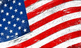 Flagge der Vereinigten Staaten von Amerika mit rauem Schmutz beunruhigte Beschaffenheit vektor