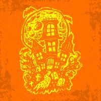 halloween hemsökta hus