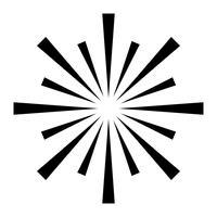Explosiv Fireworks-logotyp vektorikon vektor