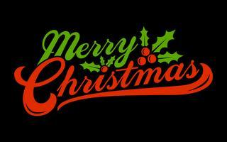 Text-Gussgraphik der frohen Weihnachten vektor