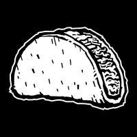 Taco-Vektor-Illustration vektor