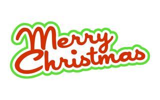 Merry Christmas text typsnitt grafik