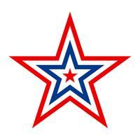 Amerika-Stern-Vektor-Symbol vektor