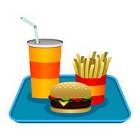 Burger cartoon vektor illustration