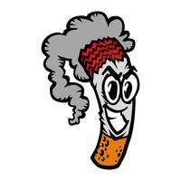 Zigarettenrauchen Vektor-Illustration vektor