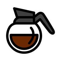 Kaffeekanne heißes Getränk Cartoon Illustration