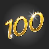 Nummer 100 / One Hundred Cool Trendy Text Graphic vektor