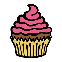 Cupcake-Vektor-Symbol vektor