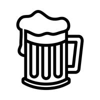 Bierkrug Vektor Icon