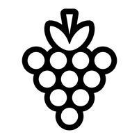 Weintraube Frucht-Lebensmittel-gesunder Snack vektor