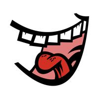 Big Happy Toothy Cartoon Leende vektorikon