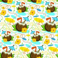 Tropisk kokosnötdryck illustration