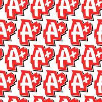 A + klass text grafik vektor