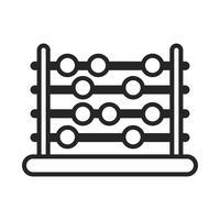 Abakus-Zählwerkzeug vektor
