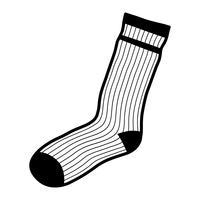 Socken Bekleidung für Füße vektor