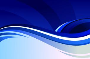 Abstrakt blå vågor vektor bakgrund