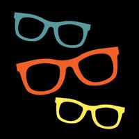 Coole Sonnenbrille Eye Frames Vektor Icon