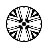 Komplexe Stammes-Kreis-Design-Vektor-Symbol vektor