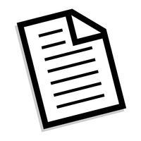 Papier-Symbol vektor