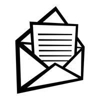 Kuvert ikon vektor illustration