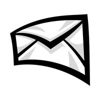 Umschlag-Symbol-Vektor-Illustration