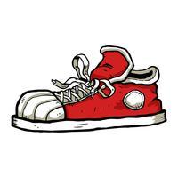 Sneaker-Cartoon-Symbol vektor